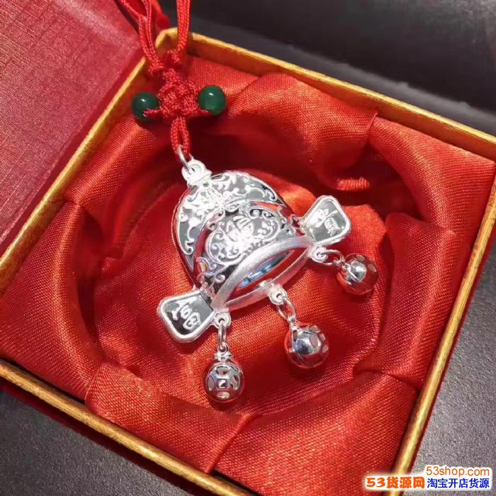 潘多拉纯银千足银万足925999银首饰批发毛衣链手镯项链银杯银壶