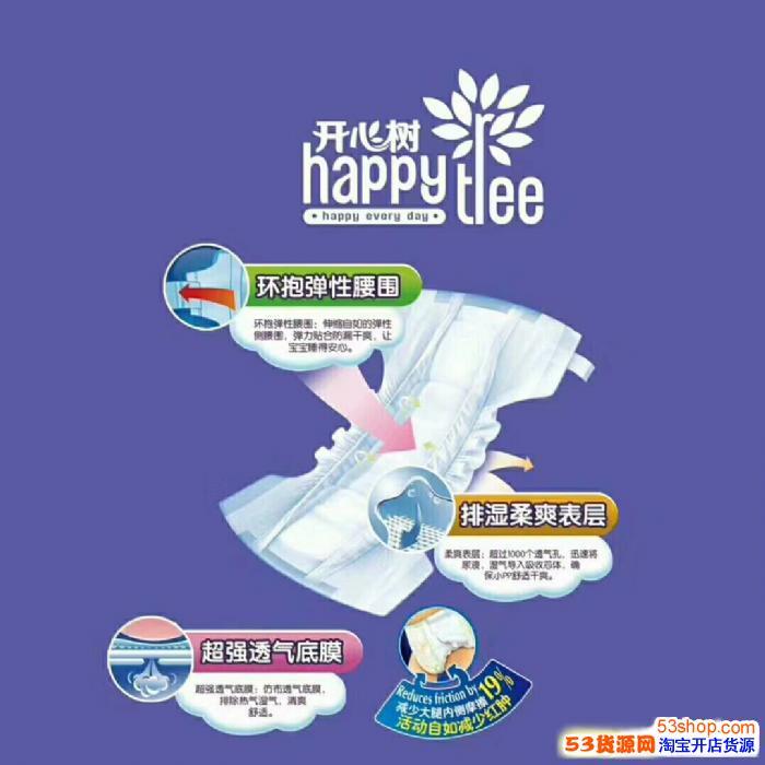 代理开心树纸尿裤可以一件代发吗,利润空间怎么算的?