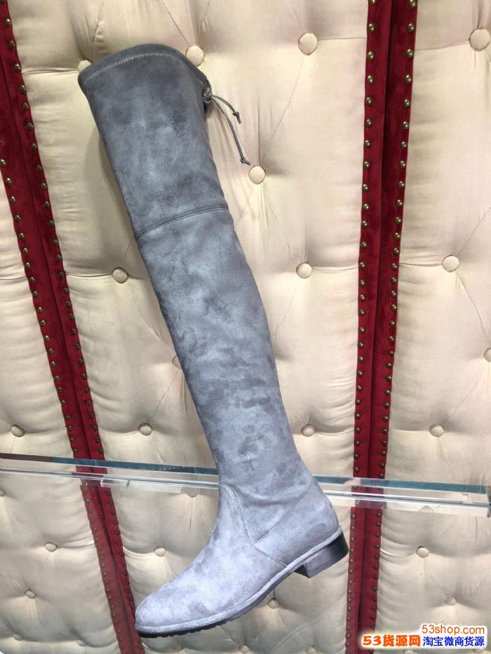 高端货源 SW Lowland长靴高跟过膝靴子批发一件代发