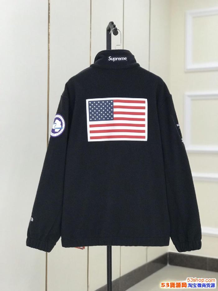 Supreme *TNF FLeece Jacket联名夹克