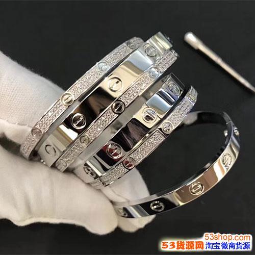 Cartier经典love款手镯,高级版本18K金高品质工厂批发