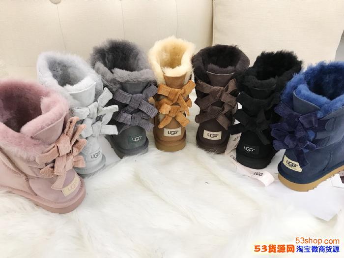 UGG正品代工厂隆丰雪地靴豆豆鞋澳洲OZLANA原单EDGII