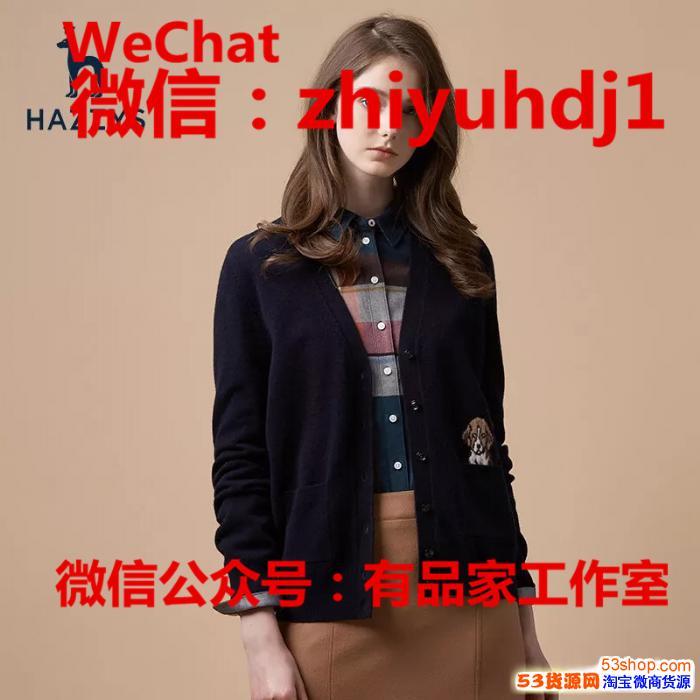 上海Hazzys哈吉斯专柜同款女装毛衣批发代理一件代发