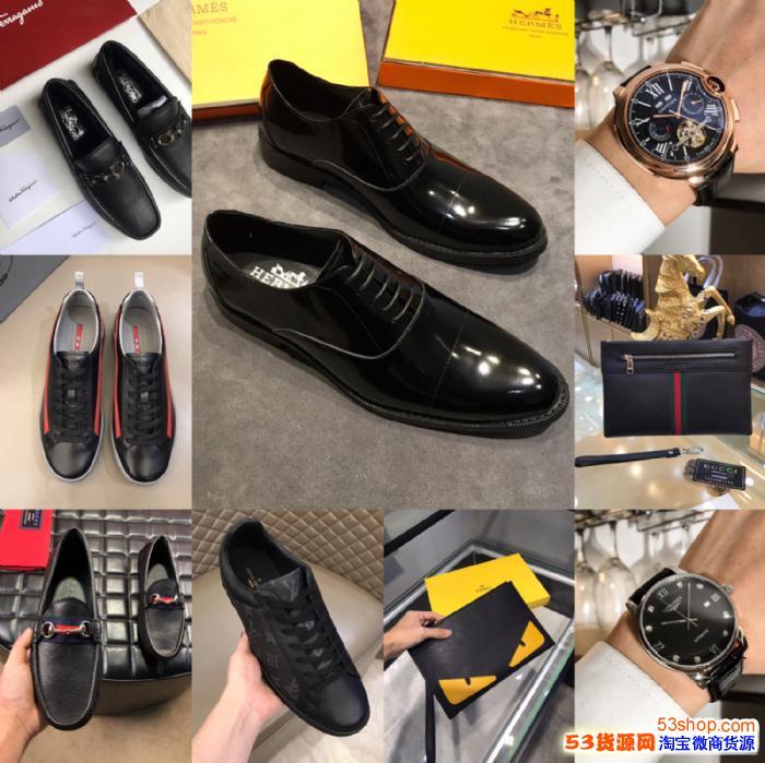 广州大牌高档男鞋 工厂直销 退换无忧 一件代发