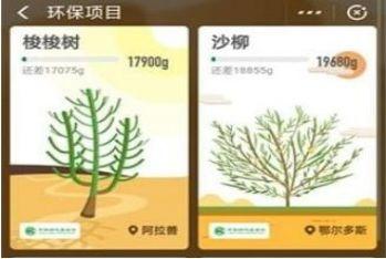 支付宝蚂蚁森林保护地兑换领取,看看有哪些保护地