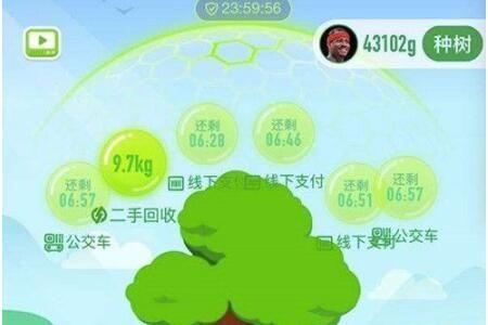 支付��垃圾回收有多少��森林能量 最高上限9763g能量