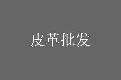 中国最大皮革批发市场海宁皮革城拿货攻略