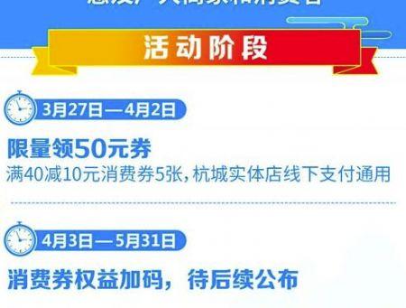 支付宝杭州消费券使用方法分享