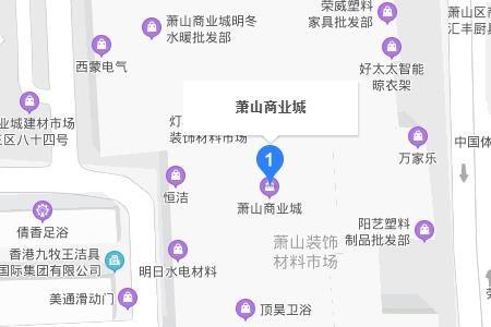 浙江萧山商业城详细地址及乘车线路一览