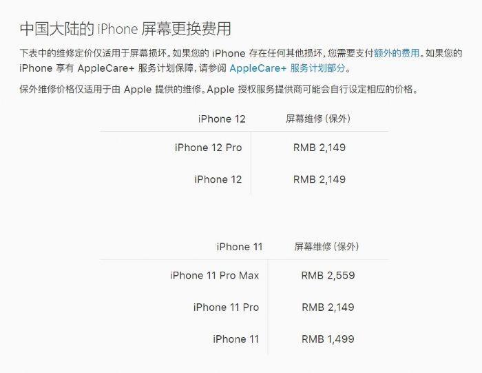 iPhone12保修吗?屏幕更换费用要多少钱