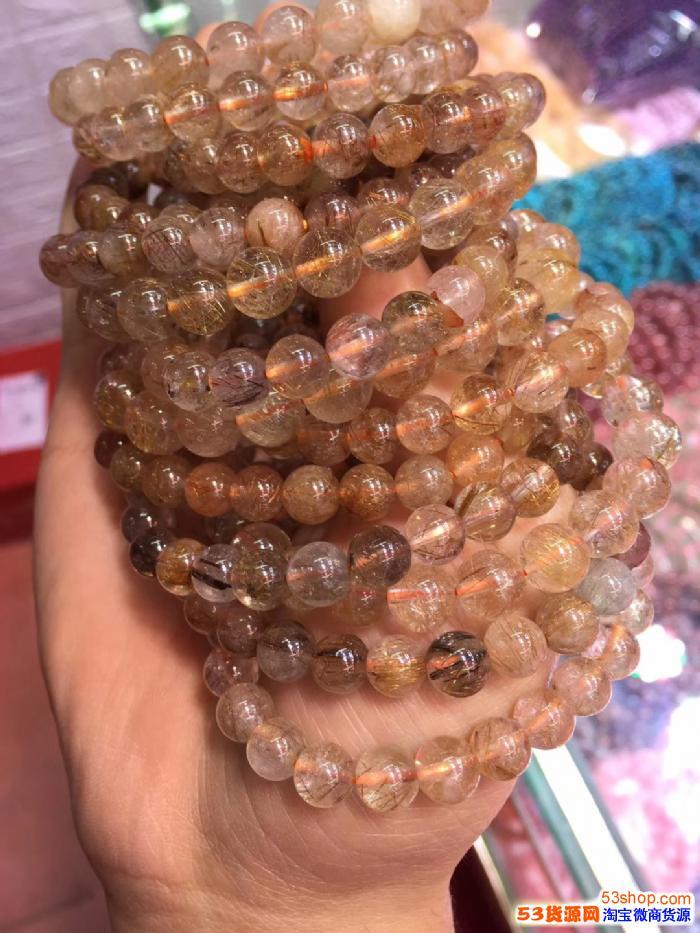石榴石,海蓝宝,闪光石,紫水晶,草莓晶各类水晶手链批发,厂家直销