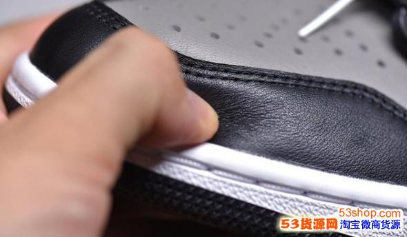 莆田毒版纯原aj1影子灰-纯原乔1实战靴-aj1价格与正品区别