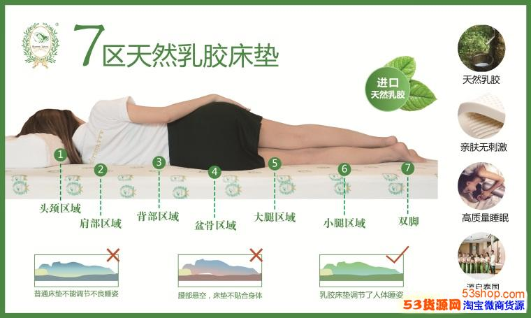 泰国乳胶枕代理素万乳胶床垫内衣加盟门槛多少钱