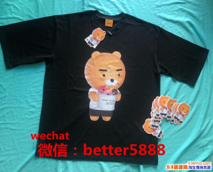 韩国外贸尾货潮牌AD*卫衣T恤服装批发货源一件代发