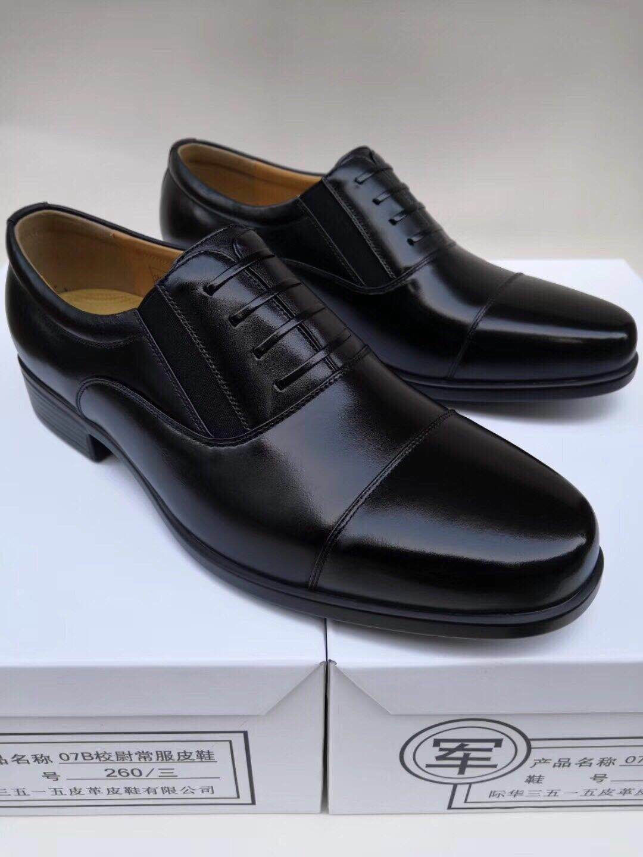 男士皮鞋商�照��b,一手�源,正品保�C3515工�S生�a07式�官校尉常服皮鞋�D片